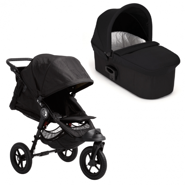 Baby Jogger City Elite vogn inkl Deluxe babybag - Svart