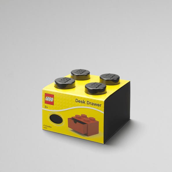 LEGO Skrivebord oppbevaring 4 - Svart
