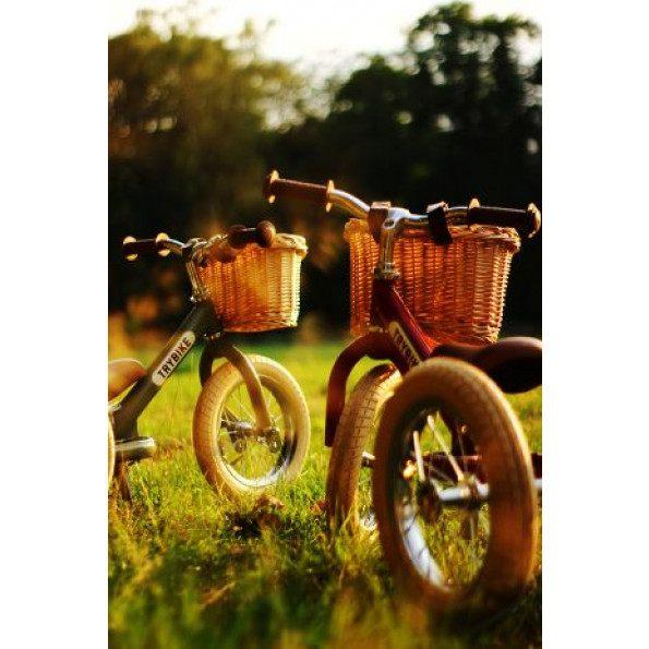 TRYBIKE Flettet sykkelkurv - Lys natur
