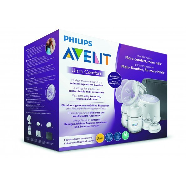 Philips Avent Dobbel elektrisk brystpumpe v2 - SCF334/31