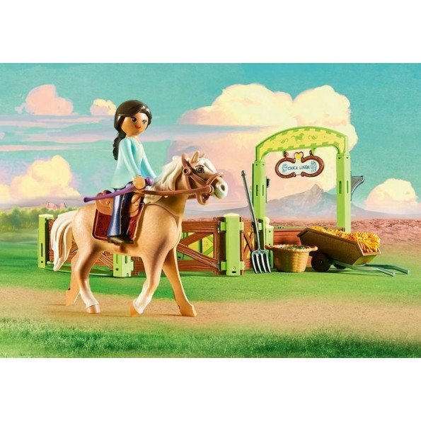 Playmobil Horse Box Pru and Chica Linda - 9479