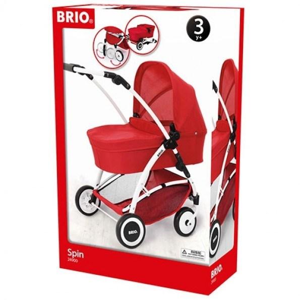 BRIO Spin Dukkevogn - Rød - 24900000