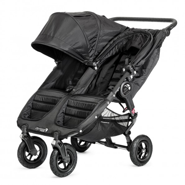 Baby Jogger City Mini GT Double - Svart Klappvogn