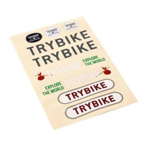 TRYBIKE Balansesykkel m/ 2 Hjul - Svart