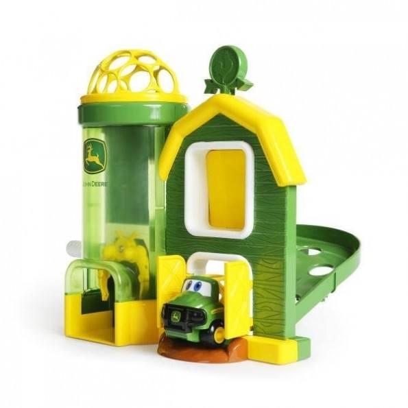 Oball John Deere lekesett med silo - Grønn