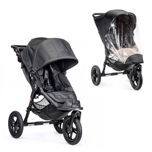 Baby Jogger City Elite Single Charcoal Denim + Regntrekk