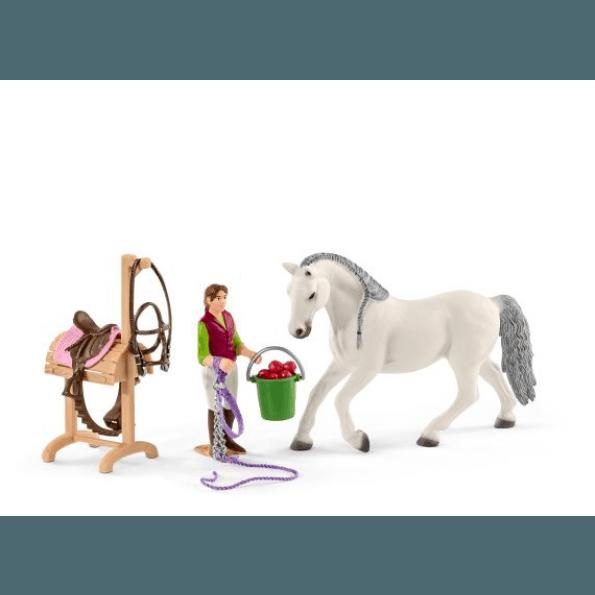 Schleich Rideskole med heste og ryttere