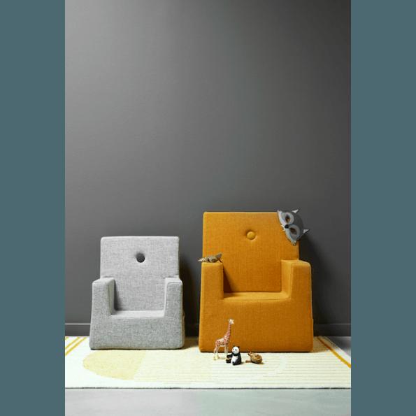 by KlipKlap Kids Chair - Grå m/ Grå Knapp