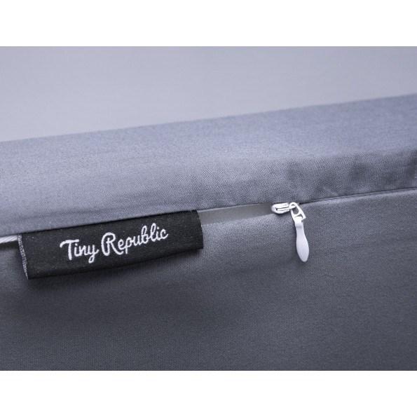 Tiny Republic sengekant + stellematte + ammepute grå