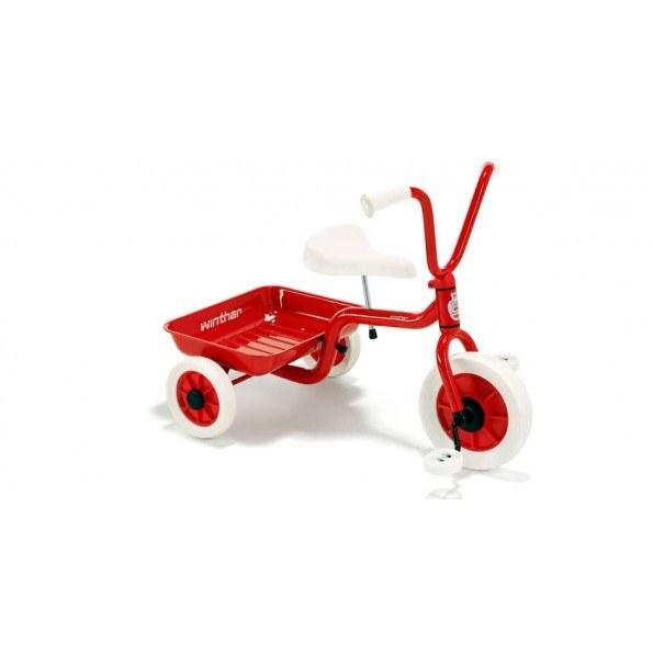 Winther Trehjult Sykkel m/ Lasteplan - Rød