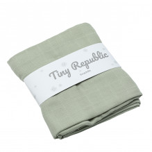 Tiny Republic baby swaddle , 120x120 cm - Lysegrønn