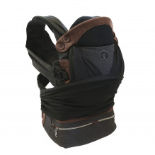 CHICCO Boppy Comfy Fit Luxe Carrier - Charcoal