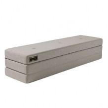 BY KLIPKLAP3-fold XL madrass - Beige med sandknapp