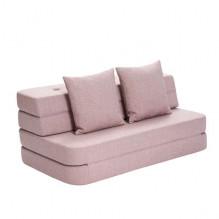 BY KLIPKLAP KK 3 fold sofa - Soft rose med roseknapper