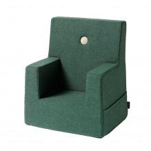 by KlipKlap Kids Chair - Deep Green m/ Beige Knapp
