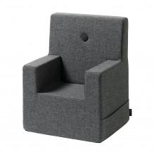 by KlipKlap Kids Chair XL - Blågrå m/ Grå Knapp