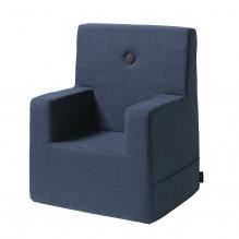 BY KLIPKLAP Barnestol XL - mørk blå med svart knapp