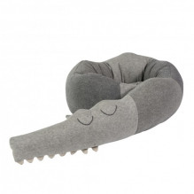 Sebra Sleepy Croc strikket pute - Grå