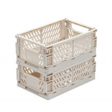 TINY REPUBLIC 2 stk. store sammenleggbare bokser - lys grå