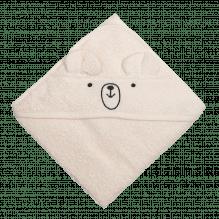 Tiny Republic håndkle med hette, Charlie 70 x 70 cm – Offwhite