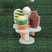 Tiny Republic Play Isinnsats med 4 iskrem i tre