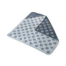 LEANDER Matty Hoodie, 80x80, Mint/Green Badehåndkle