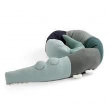 SEBRASleepy Croc strikkepute - Hazy Blue