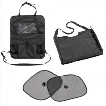 Tiny Republic Basic tablet organizer, bord & solskjermer bil-sett - svart
