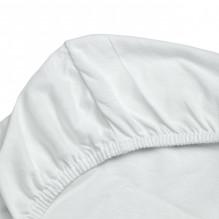 Soft Nordic jersey stretchlag 60x120x8 cm - Hvit
