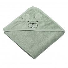 Tiny Republic håndkle med hette, Theo - Lysegrønn