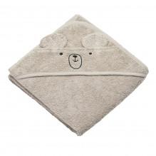 Tiny Republic håndkle med hette & bamsen Charlie - Ekte