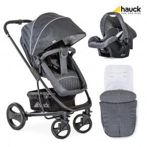 Hauck Pacific 4 Shop N Drive Set Kombivogn - Melange Charcoal