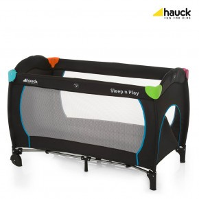 Hauck Sleep N Play Go Plus Reiseseng, multifarge/sort