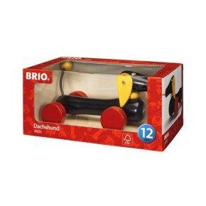 BRIO Pull Along Dachsie Hund, Liten - 30332
