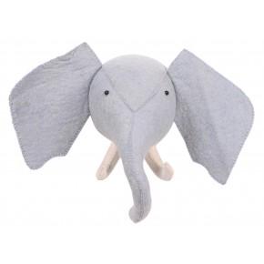 KidsDepot Zoo Elefant Dyretrofe, blå