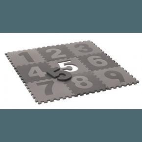 Heybasic Lekematte med tall - Grå/lysegrå