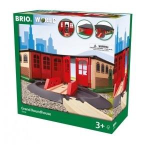 BRIO World - Stor Lokomotivstall - 33736