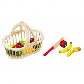 Magni - Fruktkurv m. 11 stk frukt og kniv