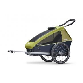 CROOZER Kid 1 sykkelhenger 2019 - Limegrønn