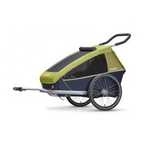 CROOZER Kid 2 sykkelhenger 2019 - Limegrønn