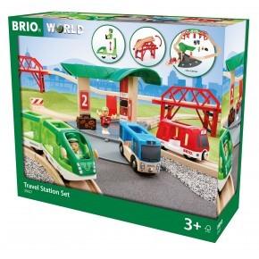 BRIO World - Togbane med perrong - 33627