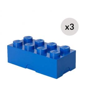 LEGO Oppbevaringskasse 8 - Blåx3