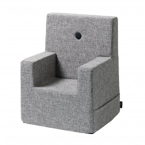 by KlipKlap Kids Chair XL - Grå m/ Grå Knapp
