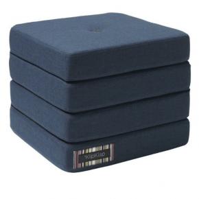 BY KLIPKLAP KK 4 Fold - mørk blå med svarte knapper