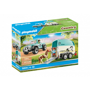 PLAYMOBILCountry Car with pony trailer - 70511