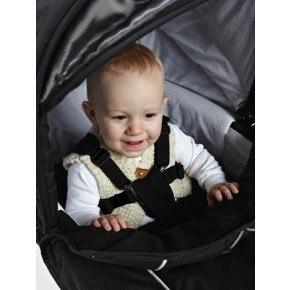 BabyDan Lux-sele til Barnevogn - svart