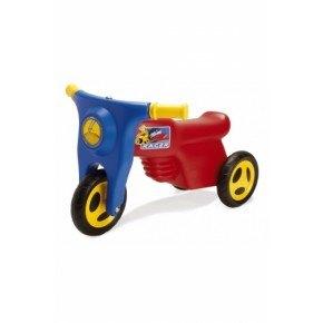Dantoy Trikescooter med gummihjul - Rød og blå