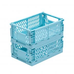 TINY REPUBLIC 2 stk. sammenleggbare bokser medium - lyseblå