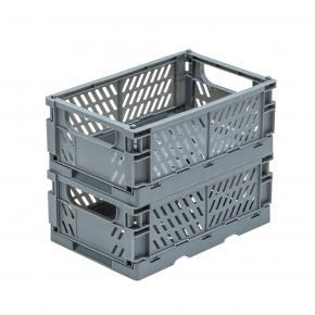 TINY REPUBLIC 2 stk. sammenleggbare bokser medium - grå