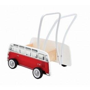 Hape - Gåvogn - Volkswagen Buss - Rød